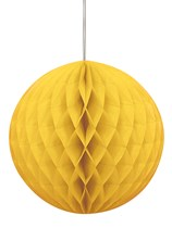 Yellow Hanging Honeycomb Decoration