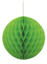 Lime Green Hanging Honeycomb Decoration
