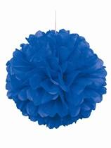 Blue Pom Pom Hanging Decoration