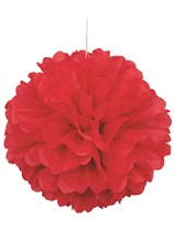 Red Pom Pom Hanging Decoration