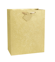 Gold Glitter Large Gift Bag
