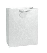 Silver Glitter Large Gift Bag