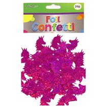 Pink holographic foil unicorn shaped confetti