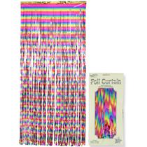 Rainbow Metallic Foil Door Curtain