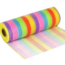 Rainbow Pastel Deco Mesh Organza Fabric Roll