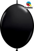 "12"" Onyx Black Quick Link Latex Balloons - 50pk"