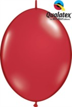 """12"""" Ruby Red Quick Link Latex Balloons - 50pk"""