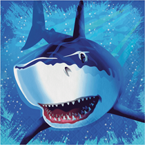 Shark Splash Party Lunch Napkins 16pk