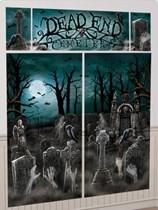 Halloween Cemetery Wall Decorating Kit