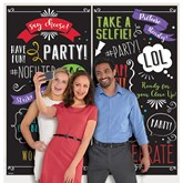 Party Selfie Wall Decoration Kit 2pce