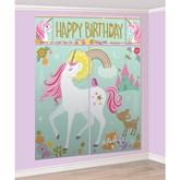 Magical Unicorn Scene Setter Wall Kit 17pce