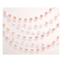 Rose Gold Blush Dot Banner Garland 2.1M