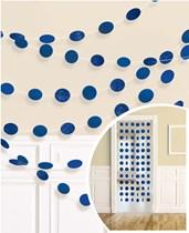 Royal Blue Glitter Dots Hanging String Decorations 6pk