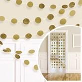 Gold Glitter String Door Hanging Decoration 2.13m
