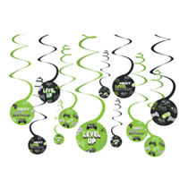 Level Up Gaming Swirl Hanging Decorations