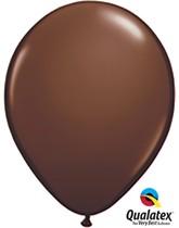 "Qualatex Fashion 11"" Chocolate Brown Latex Balloons 100pk"