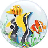 "Seaweed Tropical Fish 24"" Double Bubble Balloon"