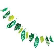 Jungle Safari Green Foil Leaves Garland 7ft
