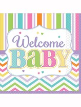 Baby Brights Welcome Baby Luncheon Napkins 36pk