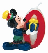 Mickey Mouse Number 0 Candle