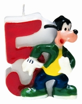 Mickey Mouse Number 5 Candle