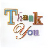 Simple Thank You Cards with Envelopes - 6pk