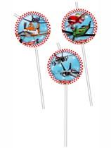 6 Planes Flexi Medallion Straws