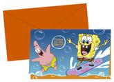 6 SpongeBob Surfing Invitations