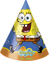 6 SpongeBob Party Hats