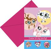 6 Littlest Pet Shop Party Invitations