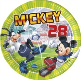 Mickey Mouse 'Goal' Paper Plates 8pk
