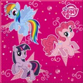 My Little Pony Sparkle Paper Napkins 20pk