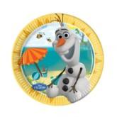 Frozen Olaf 20cm Paper Plates - 8pk