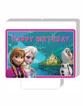 Frozen Happy Birthday Candle