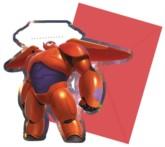 Big Hero 6 Party Invitations & Envelopes 6pk