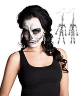 Halloween Metal Skeleton Earrings