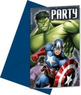 Avengers Party Invitations 6pk