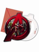 Avengers Age of Ultron Party Invitations & Envelopes 6pk