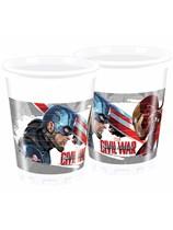 Captain America Civil War Plastic Cups 8pk
