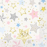 Twinkle Little Star Foil Printed Lunch Napkins 16pk