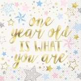 Twinkle Star One Year Old Napkins 16pk