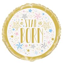 """Twinkle Little Star Baby Shower 18"""" Foil Balloon"""