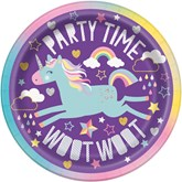"Unicorn Party 7"" Round Paper Plates 8pk"