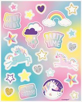 Unicorn Party Sticker Sheets Party Favours
