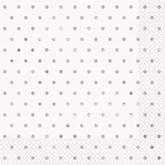 Elegant Silver Foil Dots Lunch Napkins 16pk