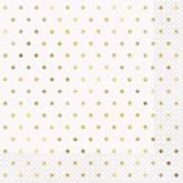 Elegant Gold Foil Dots Lunch Napkins 16pk