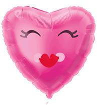 "Valentine's Smiling Heart 18"" Foil Balloon"