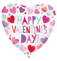 "Happy Valentine's Day Hearts 18"" Foil Balloon"
