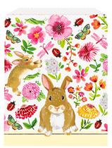 Floral Easter Rabbit Paper Treat Bag 12pk