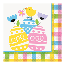 Easter Colourful Plaid Luncheon Napkins 20pk